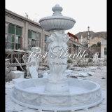Fuente de agua de piedra de mármol del jardín Mf-814