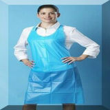 Avental unisex do PE Avental azul multifuncional Avental Poly Polyproof