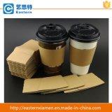 Taza de papel del café de la insignia de Customed con la funda