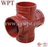 Wpt Brand Equal Tee con UL&FM Certificate Malleable Iron Fittings