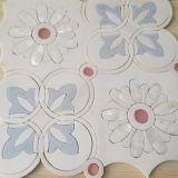 Водоструйная ранга красивейшая, белая мраморный плитка мозаики