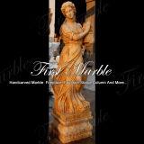 Marmeren Standbeeld Mej.-517 van het Calcium van het Standbeeld van het Graniet van het Standbeeld van de Steen van het Standbeeld Gouden