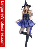 Halloween-Partei Spiderweb Hexe Fnacy Kleid Cosplay Kostüm der Frauen reizvolles