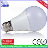 A luz de bulbo do diodo emissor de luz de A60 9W substitui o bulbo Incandescent