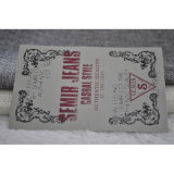 Cotone Silk Screen Print Label per Garment