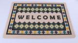 Couvre-tapis de porte extérieurs d'intérieur résidentiels de bienvenue d'entrée d'entrée de Commerical d'anti glissade en gros