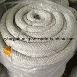 De alta temperatura. Corda redonda trançada da selagem da fibra cerâmica de resistência térmica
