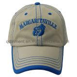 Lavado puntadas gruesas vinculante bordado deportivo de gorra de béisbol (TMB0361)