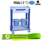 Chariot à équipement médical avec des tiroirs et IV Pôle (CE/FDA/ISO)