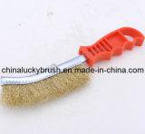 Tipo plástico cepillo de pulido (YY-066) del cuchillo de la maneta del alambre de acero