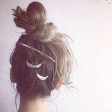 O cabelo penteia Headwear feito da liga de carcaça no ouro/prata