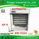 Incubateur neuf de poulet d'Industrisal de type certifié par CE avec le taux de hachure de 98% (KP-9)