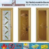 Fobフォーシャン二重ガラスデザインのアルミニウムフレームの浴室のドア