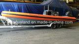 Шлюпка нервюры Aqualand 30feet 9m/патруль спасения Militray/шлюпка мотора (RIB900B)