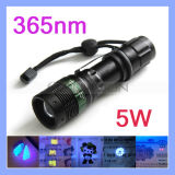 3 Modi Zoomable Blacklight Inspection 5W 365nm UVUltraviolet Flashlight Torch