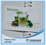 Cartão material do transporte do PVC do plástico do ISO 9001