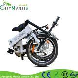 Bici plegable eléctrica de la ciudad de 6 velocidades con la batería ocultada del Li-ion