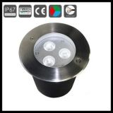 Garten-runde Untertageleuchte der Leistungs-IP65 RGB LED