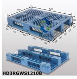 Páletes do plástico de L1200*W800*H150mm; 3 corredores; com as câmaras de ar de aço reforçadas