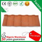 カラーナイジェリアの石造りの上塗を施してある屋根ふきシートの物質的な屋根ふきデザイン