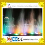 Fontana variopinta quadrata esterna di musica dell'acqua