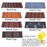 Мода Яркий строительный материал Лист Красочные Камень с покрытием Кровельные металлические плитки