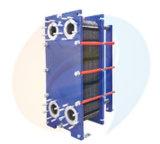 Tipo cambiador de la placa de B100b B100h (acero inoxidable, Ti) de calor industrial