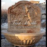 Fontana di parete di pietra di marmo del calcio dell'oggetto d'antiquariato del travertino del giardino del granito Mf-793