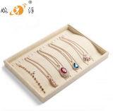 Exposição de linho bege da pulseira do bracelete da jóia (MT-053)
