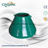 Metso Crusher Peças sobresselentes Manganês de aço inoxidável Mn18cr2 Casting Grate Parts Mantle