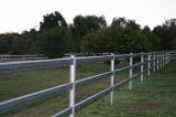 Загородка загородки 3-Rail трубы загородки лошади,