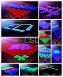 Diodo emissor de luz Dance Floor do efeito DMX 3D do abismo do espelho do partido do disco