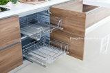 Modules de cuisine modernes populaires de placage de cartel et de meubles de laque