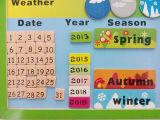 Brinquedos de madeira do enigma educacional de madeira do calendário (33244-1)