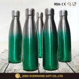 La categoría alimenticia 17oz imprimió la botella de agua aislada vacío del acero inoxidable