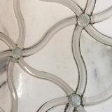 Oro Waterjet, mattonelle di marmo Polished di Calacatta di alta qualità