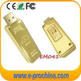 Movimentação do flash do USB do ouro da alta qualidade do logotipo da gravura do laser