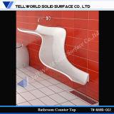 Fregadero superficial sólido exclusivo del cuarto de baño del europeo moderno, serie del lavabo de colada