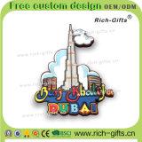 Les aimants de réfrigérateur ont personnalisé les cadeaux promotionnels de chameau avec 3D le modèle Burj Dubaï (RC-DI)
