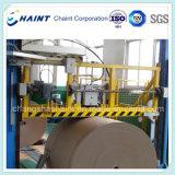 Roll Handling und Strapping System mit Umreifungsmaschine