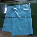 Saco tecido PP barato do azul para o arroz da embalagem, fertilizante, farinha, feijões de café