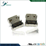 Tête femelle L8.6mm, H3.46mm, Pin L=1.2mm &#160 d'USB3.1 C 24p ; avec le type d'IMMERSION de quatre chevilles
