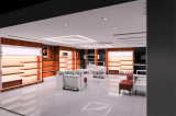 人の靴Shopfittingのための陳列台は、室内装飾買物をする