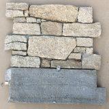 참깨 노란 화강암 시멘트 문화 돌
