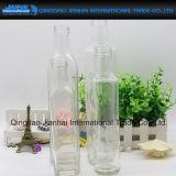 De vierkante Fles van het Glas van de Opslag van de Olijfolie met Verschillende Grootte