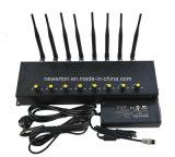 Nieuwe Desktop 8 GPS van WiFi van de Stoorzender van het Signaal van de Telefoon van de Cel van Antennes Stoorzender