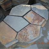 De milieuvriendelijke Chinese Veelkleurige Matten van de Flagstone van de Lei Openlucht (smc-R063)