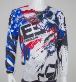 Hombres Custom Overallprint 3D Print Sublimation Moto Racing Cycling T-Shirts (CS14959)