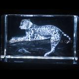 Leopardo cristalino 3D