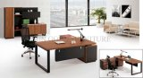 2015 Popular quente Melamine Wooden Desktop com Black Steel Foot Office Desk (SZ-OD308)